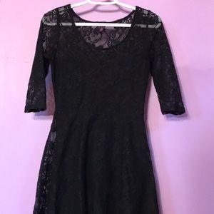 Short black lacy dress